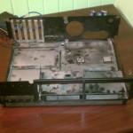 Inside of IBM 5150 gutted